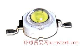 铜支架迪元30mil足1W四金线大功率LED白光灯珠