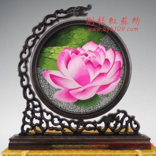 苏州手工刺绣 双面绣屏风 特色商务礼品