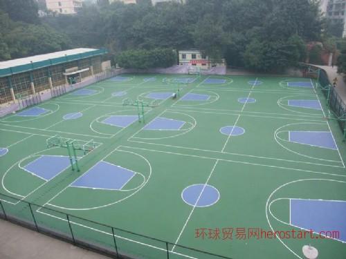硅PU篮球场 胶地板铺设 塑胶篮球场材料 丙烯篮球场建设