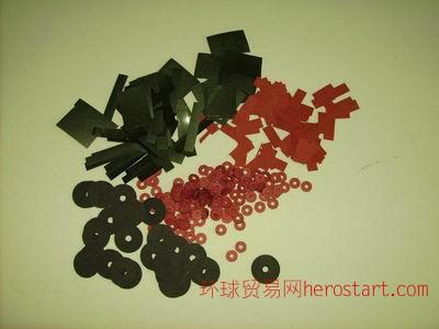红色防火绝缘快巴纸介子-青稞纸成型垫片
