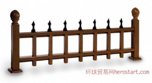 直销木纹装饰优质仿木铝合金绿化护栏