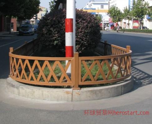 直销仿木园林木纹装饰铝合金护栏网