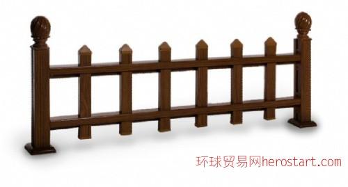 新型水印木纹铝材园林绿化护栏