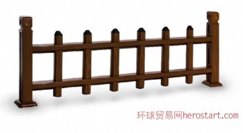 户外木纹装饰氟碳木纹铝材园林绿化护栏