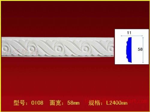 PU线条 聚氨脂材料 欧式线条 平板线 镜框线 非石膏线条OI-08