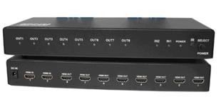 仝丽VGA808 VGA矩阵 VGA接口 8进8出 遥控 2U机柜安装
