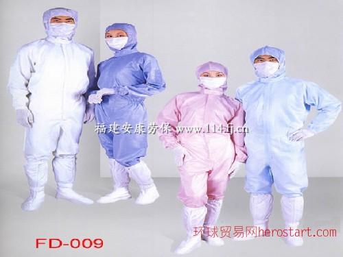 泉州电子防静电服,晋江食品白色条纹分体防无尘洁净服