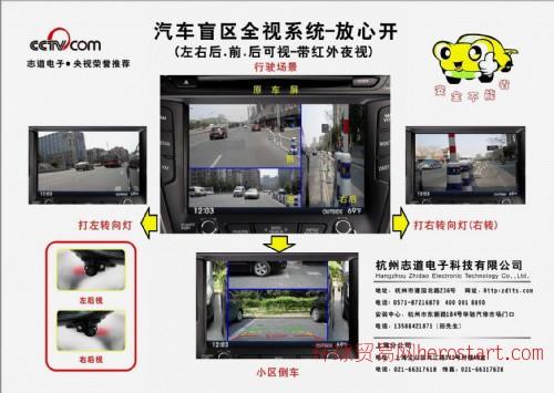 四摄像头组合画面系统(ZDZH-B-5)前、后、左、右四个摄
