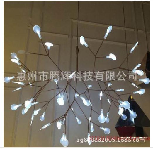 树技吊灯导电漆 萤火虫树枝led雪花吊灯导电漆