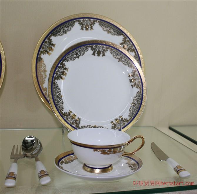 欧式骨瓷西餐具套装 刀叉勺西餐盘