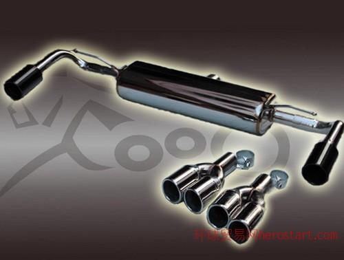宝马新款X3改装尾段四出F009排气管品牌