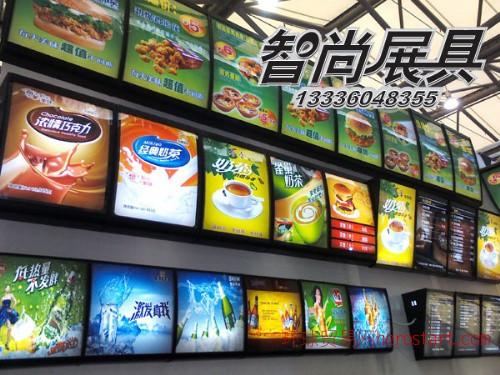 肯德基点餐灯箱 杭州快餐点餐灯箱 弧形灯箱定做