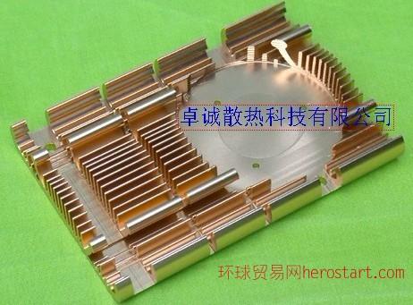 铝型材散热片、主机CPU、芯片