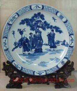 手绘陶瓷大瓷盘,景德镇青花瓷盘,批量瓷盘
