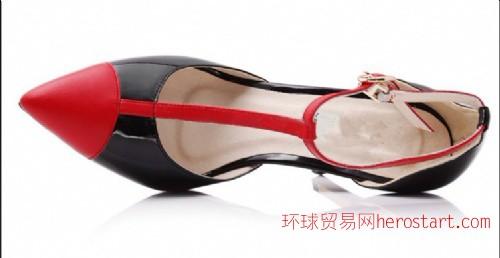 时装女鞋工厂承接生产时尚外贸高跟鞋