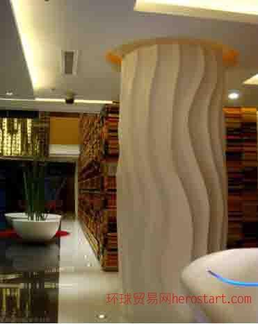 云南GRG酒店大堂造型柱子