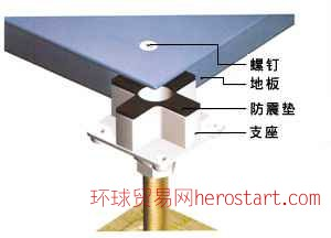 全钢空架防静电地板,陶瓷空架地板