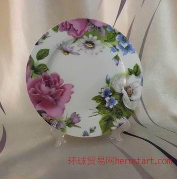 家用8寸盘子,唐山环保健康瓷