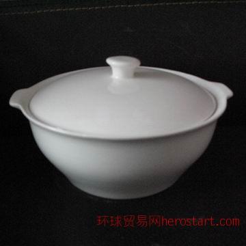 骨质瓷品锅,9寸直身品锅,唐山骨质瓷白胎工厂,保证