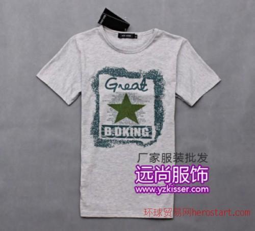 深圳便宜的尾货长袖t恤批发低价处理牛仔裤t恤