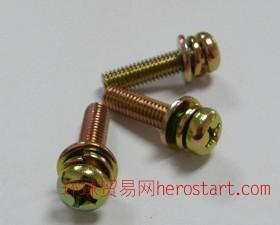 十字盘头三组合螺钉,GB823十字盘头组合螺丝,不锈钢十字头组合螺丝