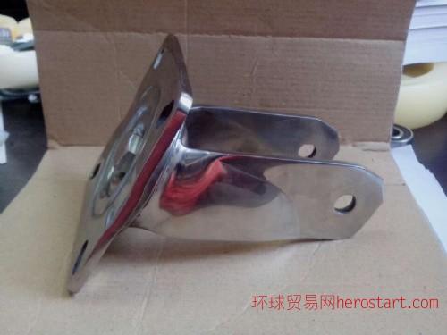 304不锈钢重型工业脚轮定向万向支架