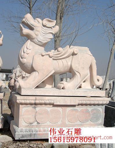 石雕雕塑石狮子孔子像貔貅麒麟牌坊石亭子
