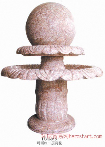 石雕喷泉小桥风水球鸿福轮;园林水景,石雕小桥流水,水榭亭台等