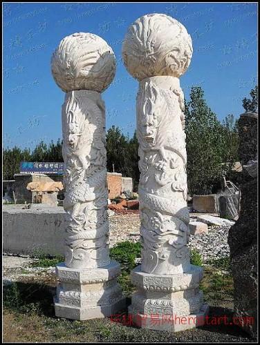 华表龙柱,文化柱,龙柱,石雕龙十二生肖石柱