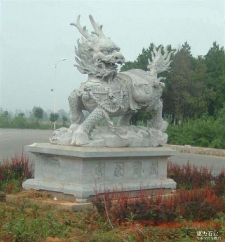 麒麟雕塑石雕麒麟狮子大象貔貅等瑞兽
