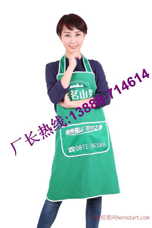 云南山泉广告围裙,印字印logo,昆明围裙厂