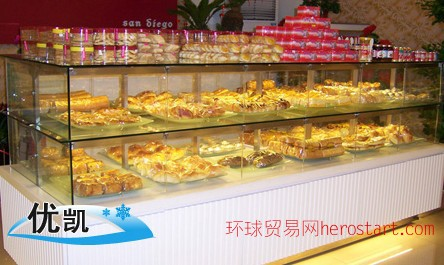 丹东蛋糕柜经销商,营口辽阳葫芦岛蛋糕展示柜生产厂家合肥优凯
