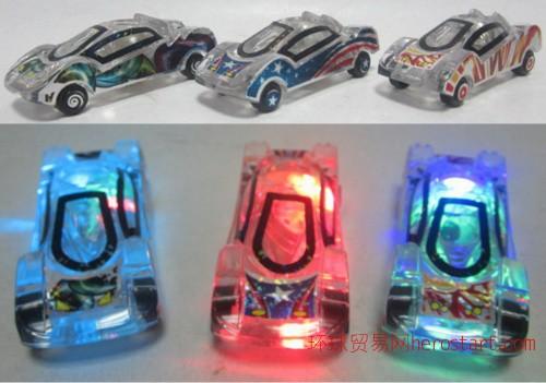 滑行透明水晶七彩闪光车适汽车展会商务馈赠礼品玩具