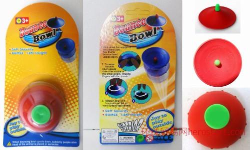 风靡国外神奇半边弹跳球弹跳碗弹力球澄海塑料橡胶2元左右玩具工艺