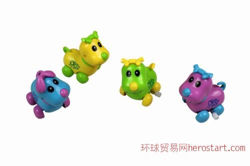 上链QQ狗宠物澄海环保塑料2元以下可配糖果食品玩具