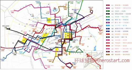 沈陽公交車線路總圖