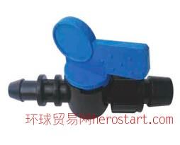 常用滴灌pe水带Φ16mm锁母旁通阀安装