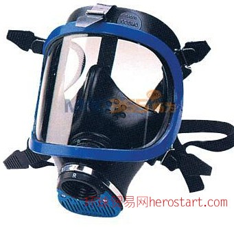 巴固1710643硅胶蓝色防毒全面罩