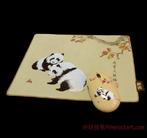 熊猫办公礼品套装——丝绸礼品的灵魂,创意时尚贵族气息