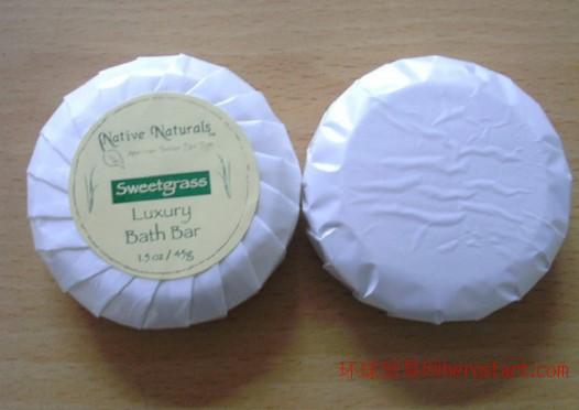 圆形一次性酒店香皂 酒店一次性透明香皂 15g酒店一次性香皂