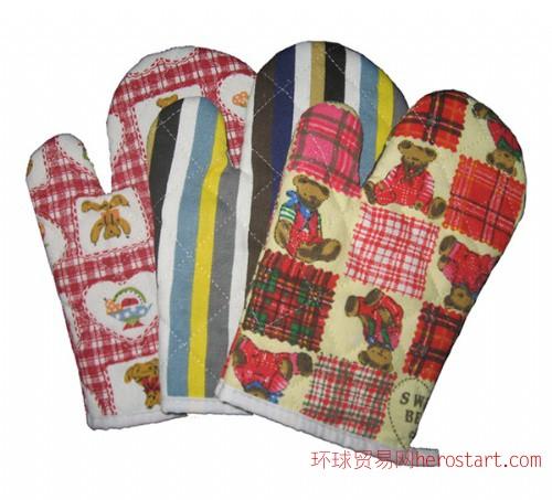 全棉隔热防烫手套可供微波炉挂烫机使用