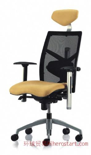 多功能绒布老板转椅  经理办公座椅