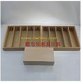 天津A027纺锤棒箱蒙特梭利教具厂家供货