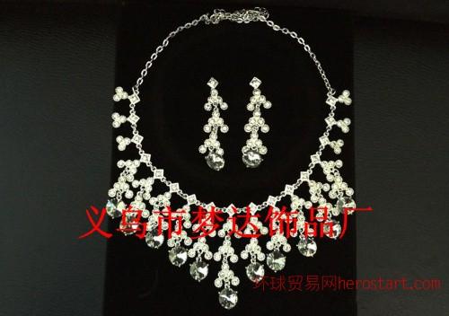梦达饰品 M-19水钻玻璃亮晶晶套链