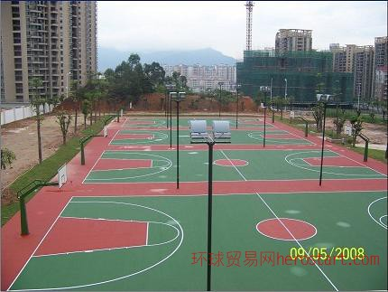 运动场地板篮球场网球场羽毛球场pu球场硅pu球场