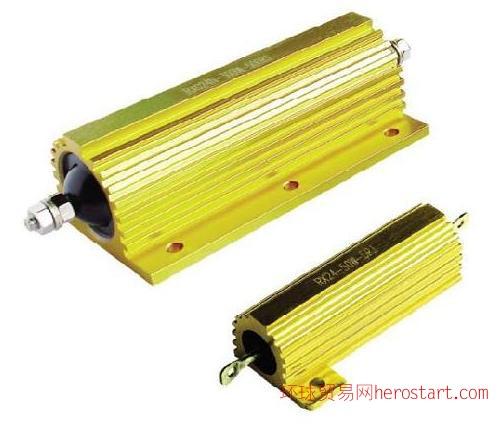 金黄色铝外壳线绕电阻器RX24 5W-500W