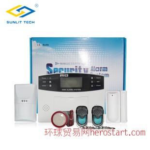 带LCD显示语音提示操作GSM智能家用报警主机 手机卡报警