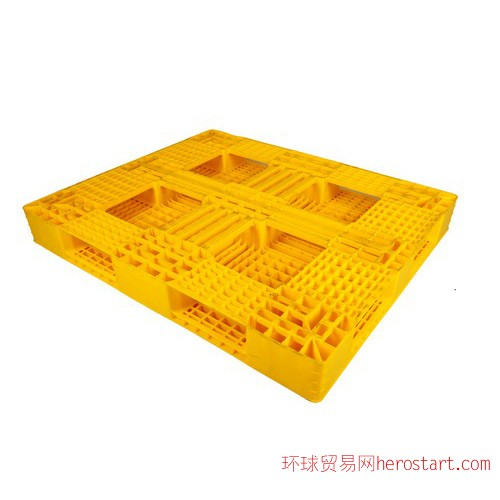 塑料托盘1311田字(黄色、反面)
