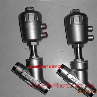 不锈钢头 焊接气动角座阀 CF8/304