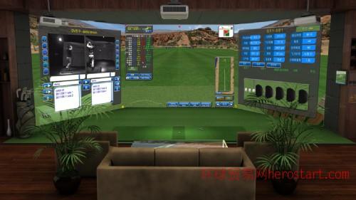 新德国双3D高速像机室内高尔夫模拟器